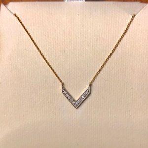Stella & Dot Covet Intention Gold Necklace